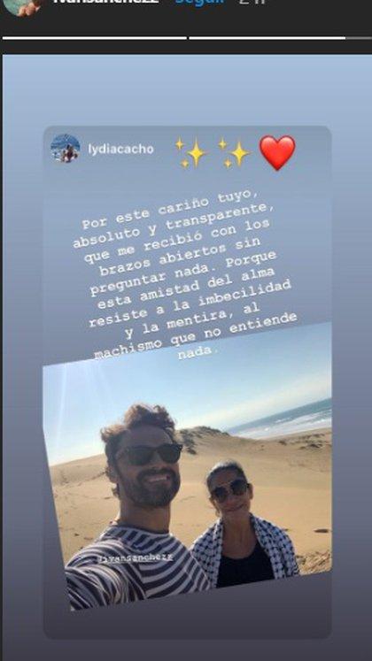 Iván Sánchez compartió este mensaje de la periodista