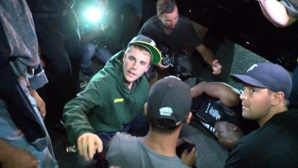 Justin Bieber atropelló a un camarógrafo