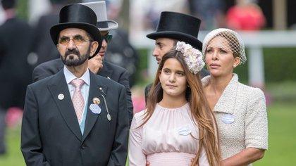 El jeque Mohammed bin Rashid Al Maktoum, la princesa Haya de Jordania y su hija Al Jalila (Shutterstock)