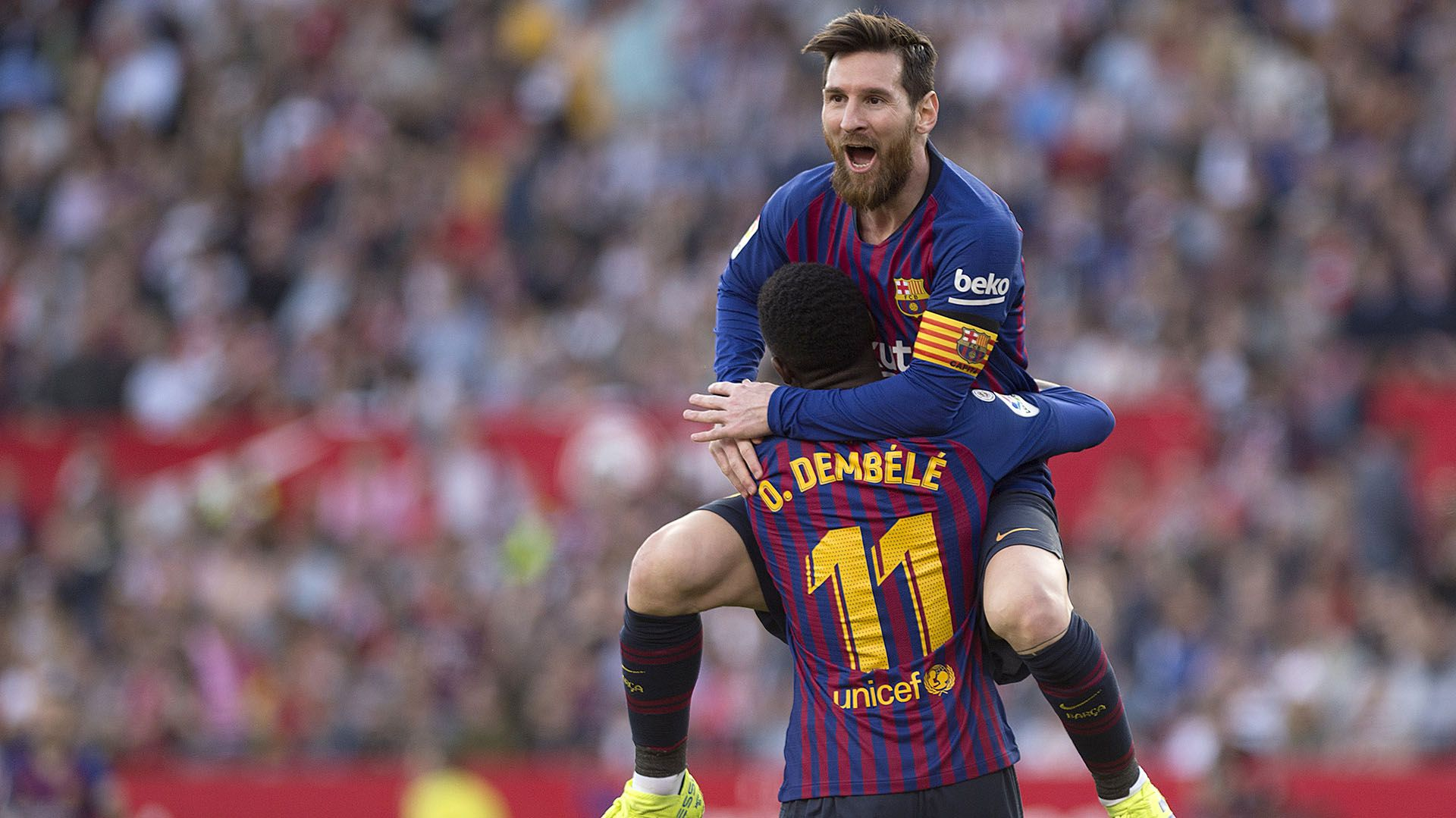 La Pulga no dudó en mencionar a dos de sus compañeros en el Barcelona: Dembelé y de Jong (Foto: AFP)