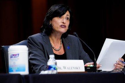 Director of the CDC Rochelle Walinski.  Photo: Susan Walsh / Paul via Reuters