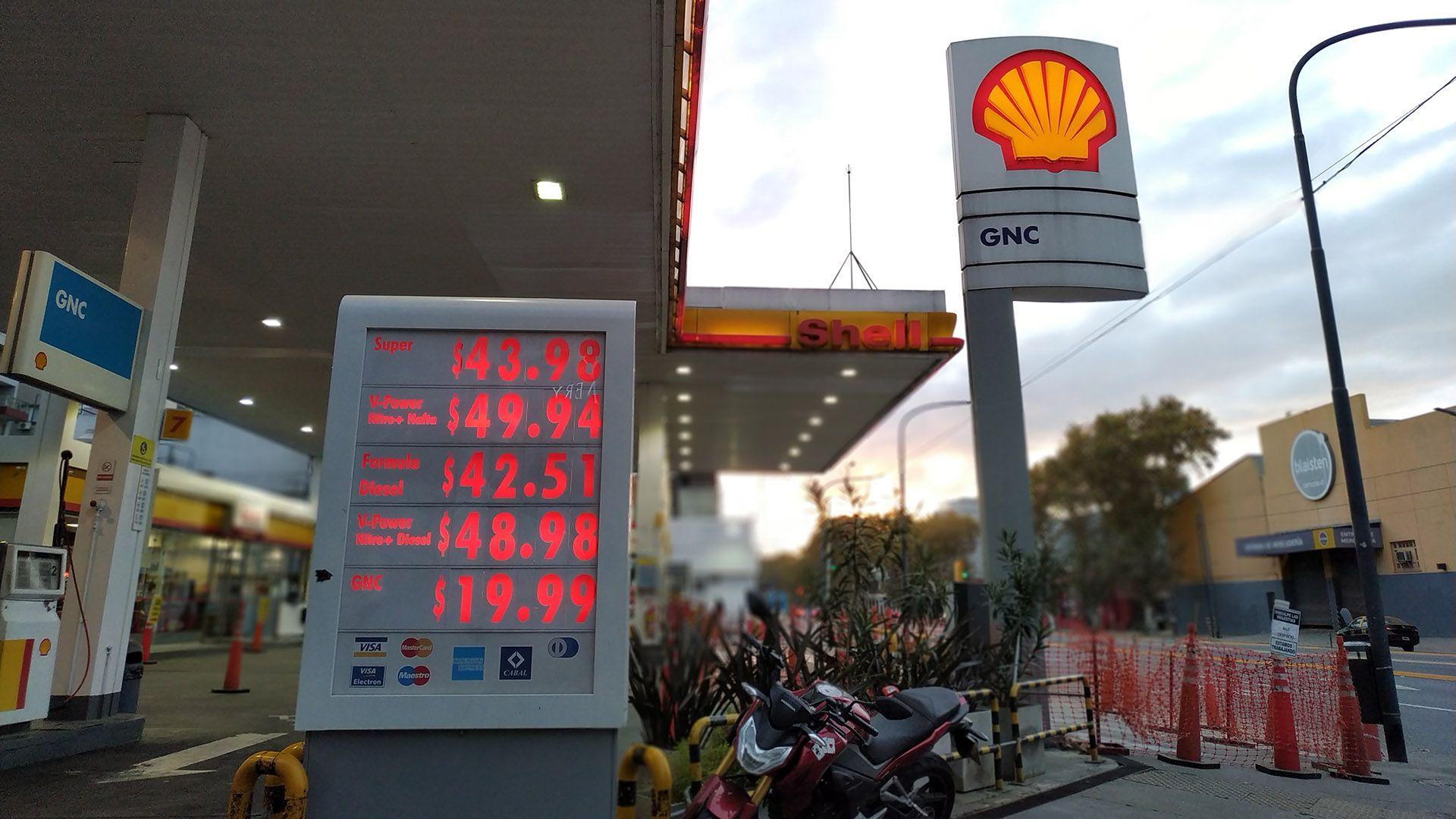 El último aumento en los combustibles fue el 1 de julio