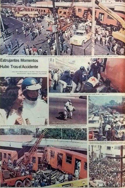 El primer accidente grave que sufrió el Metro de la CDMX fue hace 45 años (Foto: Periódico El Sol de México/ 21 de octubre de 1975)