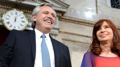 Alberto Fernánez y Cristina Kichner (foto de archivo: Presidencia)