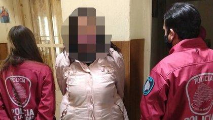 La mujer detenida en La Carlota