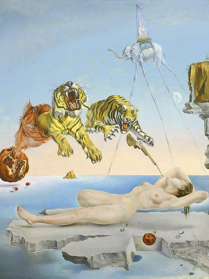 """""""Sueño causado por el vuelo de una abeja alrededor de una granada un segundo antes del despertar"""" de Salvador Dalí"""