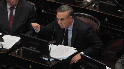 Miguel Pichetto durante su intervención en el Senado (Patricio Murphy)