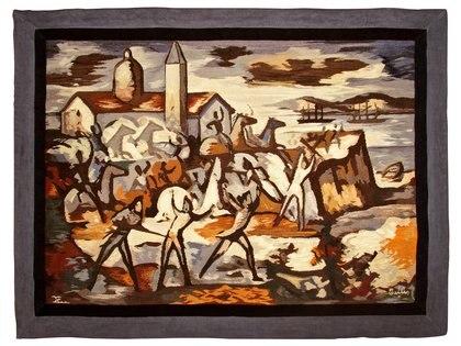 Horacio Butler. La batalla de San Lorenzo 145 x 197 cm (MAT)
