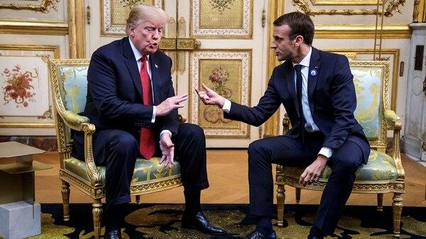 Donald Trump y Emmanuel Macron (Reuters)