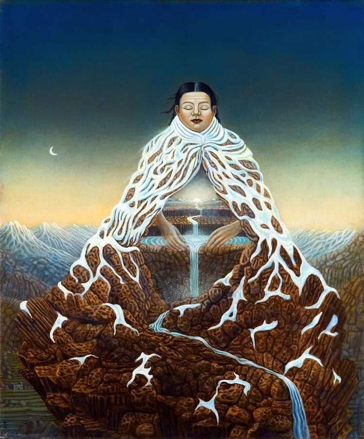 Cada 1° de agosto los pueblos indígenas de América Latina celebran el Día de la Pachamama o Día de la Gran Madre Tierra (La Pachamama, cuadro de Jose García Chibbaro)