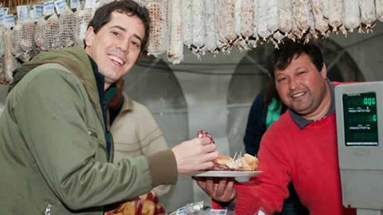 El actual diputado produce salame quintero en Mercedes, provincia de Buenos Aires