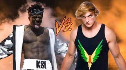 Cartel promocional de la pelea entre KSI y Logan Paul