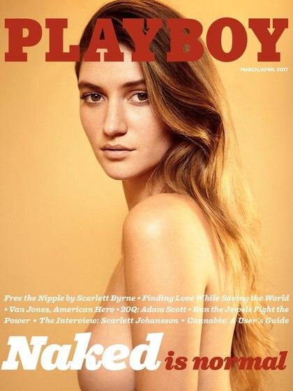 """En el número de marzo/abril de 2017, con la foto de portada de la modelo Elizabeth Elam, se anunció el regreso de los desnudos de la revista """"Playboy"""" (Gavin Bond / Playboy)"""