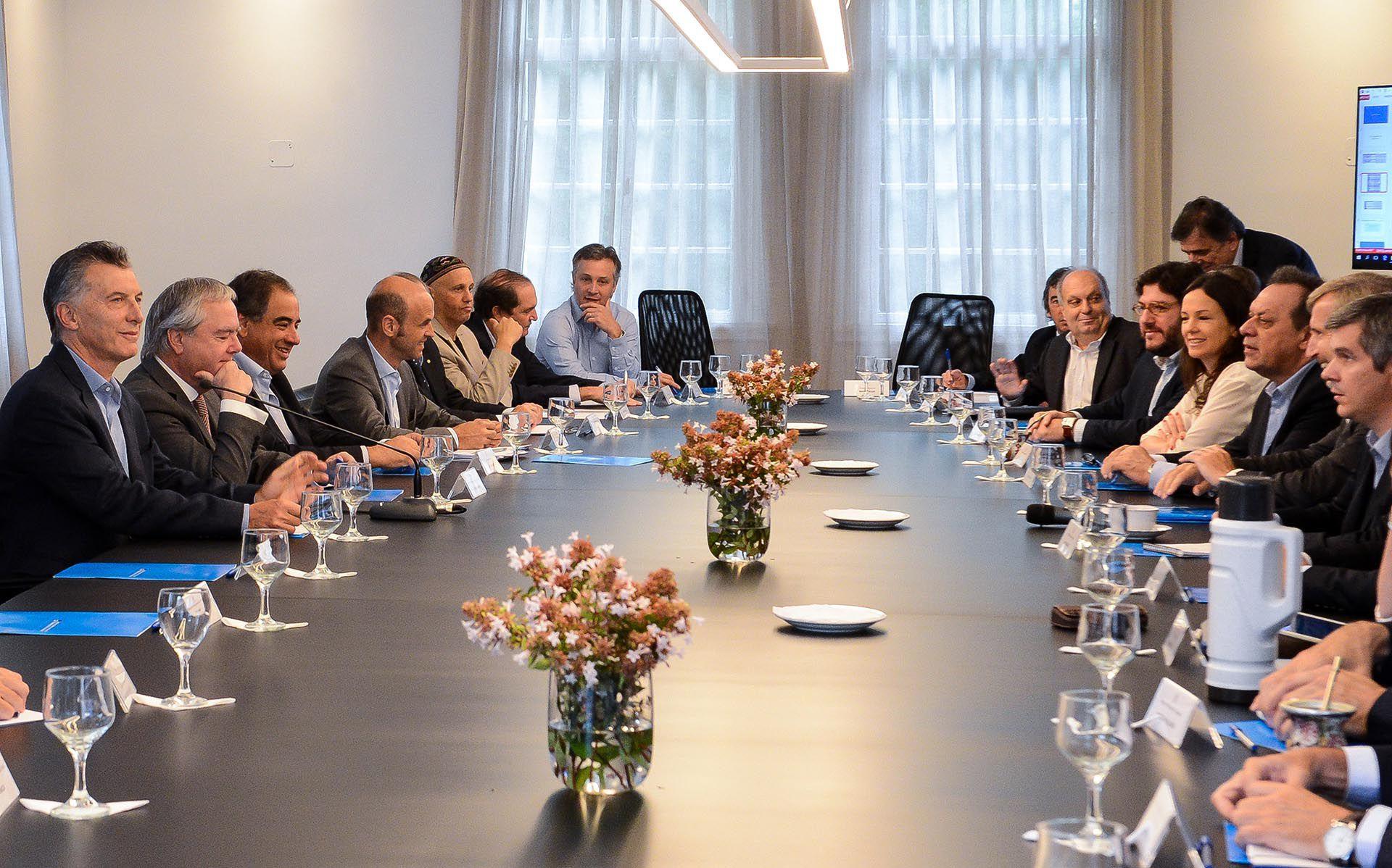 Una reunión de gabinete de ministros realizada el 14 de febrero de 2017 en la quinta presidencial de Olivos