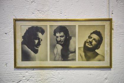 Martín siempre presente; aquí, en el gimnasio donde entrenan los nuevos luchadores