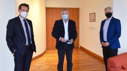El ex vicepresidente de Bolivia, Alvaro García Linera, visitó al canciller Felipe Solá y al jefe de gabinete del ministerio, Guillermo Chávez