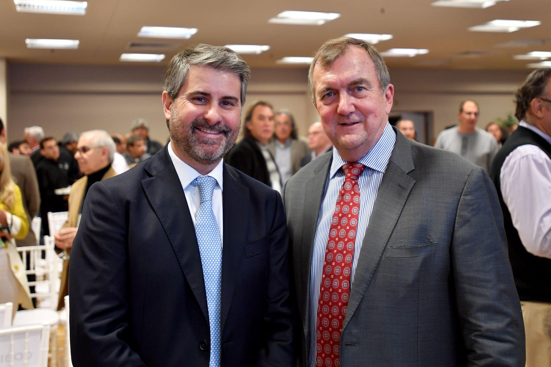 Marcelo Álvarez, director Ejecutivo en Barrick Gold Corporation, junto a Mark Bristow, presidente y CEO de la compañía