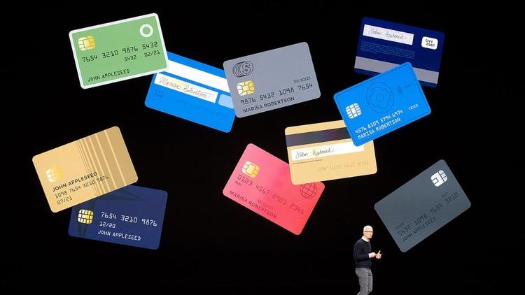 La tarjeta de crédito de Apple es virtual: no tiene número ni fecha de vencimiento y se autentica el pago por medio Face ID o Touch ID. (AFP)