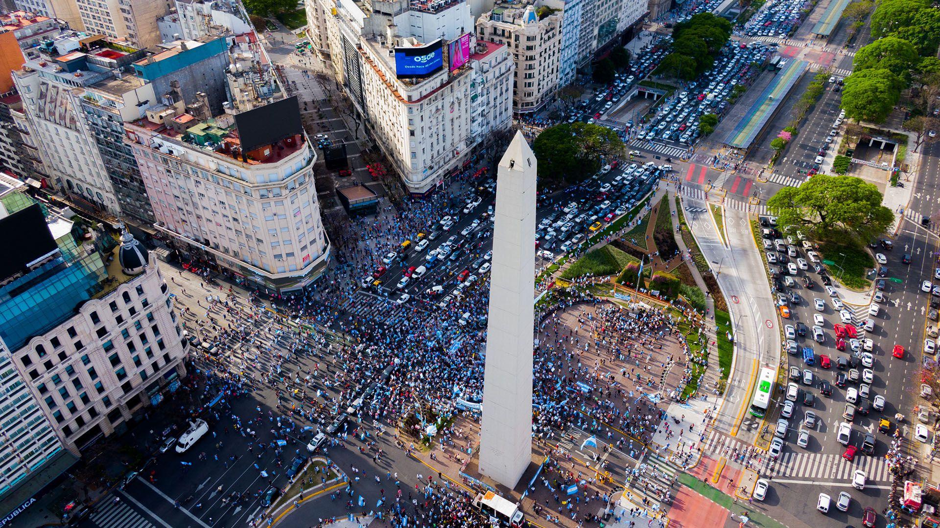 marcha 8n obelisco drone