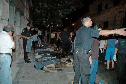 Imágenes de la noche de la tragedia (Foto: Marcelo Bartolomé)