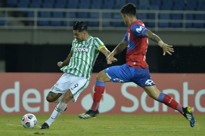 Jéfferson Duque anotó el 2-0 parcial de la victoria de Atlético Nacional frente a Universidad Católica de Chile