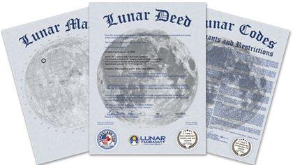 """Los """"títulos de propiedad"""" del terreno lunar"""