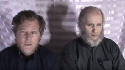 King y Weeks, profesores de la Universidad Americana de Kabul, fueron secuestrados en 2016