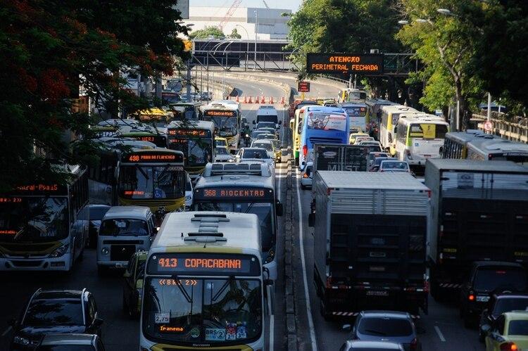 Río de Janeiro y Sao Paulo comparten el quinto puesto de las 10 ciudades más congestionadas de América Latina. (Foto: Archivo)