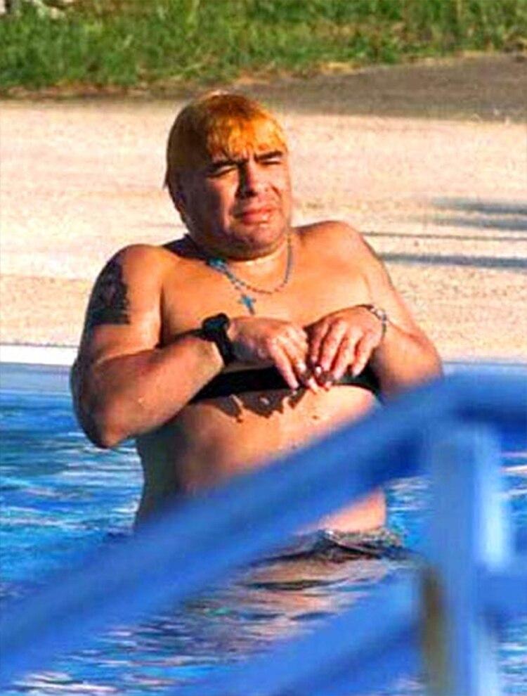 Diego Maradona durante su internación en Cuba