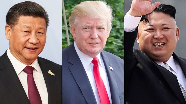 Image result for trump jinping kim jong un