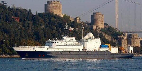 La embarcación rusa Yantar