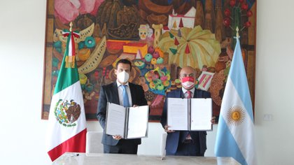 Delegaciones diplomáticas de México y Argentina se reunieron en la sede de la SRE en México (Foto: Cortesía/SRE)