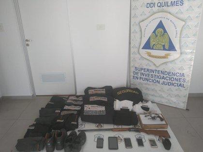 Objetos relacionados al robo tras los secuestros