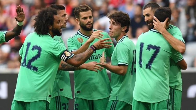 El Real Madridcompartió las dorsales oficiales (AFP)