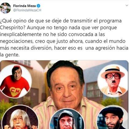 Florinda Meza habló fuerte tras la salida del aire de los programas de Roberto Gómez Bolaños (Foto: Twitter)