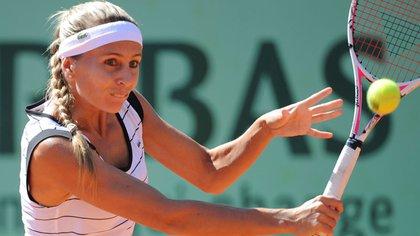 Gisela Dulko había sido la última argentina en octavos de final de Roland Garros cuando llegó a esa instancia en 2011 (Foto: AP)