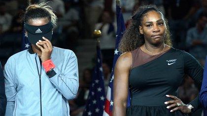 (AFP) Osaka no pudo ocultar sus lágrimas en la premiación