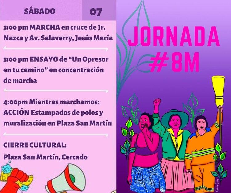 En Perú se preparan diversas actividades alrededor del 8 y 9 de marzo. El puntapié de Argentina despertó a la región en un movimiento que hoy es cada vez más fuerte en toda la región.