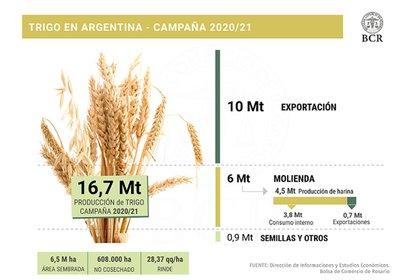 Detalles de la actual campaña de trigo (Bolsa de Comercio de Rosario)