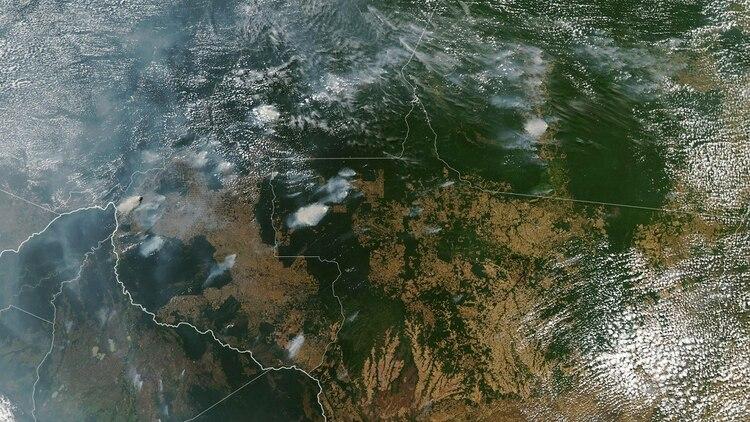 Los incendios en el Amazonas (AFP)