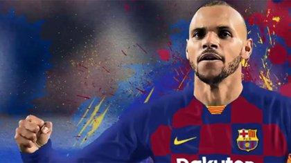 Martin Braithwaite firmó con el Barcelona