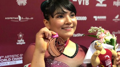 La mexicana Alexa Moreno se hizo con el bronce en el Mundial de Gimnasia Artística en Doha 2018 (Foto: Archivo)