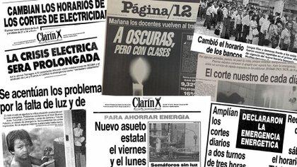 Las tapas de los diarios de la época reflejaban la crisis energética