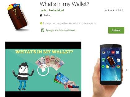 What's in my Wallet? permite reconocer billetes argentinos e identificar tarjetas de diferentes entidades.
