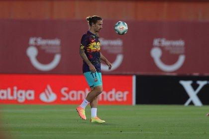 El delantero francés del Barcelona Antoine Griezmann entró a los 90 minutos (EFE/ Juanjo Martín/ archivo)