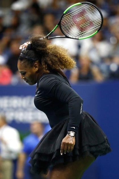 Serena Williams no ocultó su rabia en cancha