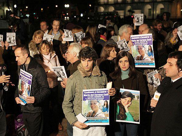 Una manifestación de 2016, cuando se cumplieron cinco años de la desaparición. Esta vez la convocatoria se realiza en Salta (DyN)