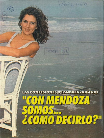 Andrea Frigerio en Revista Tele-Clic, enero de 1992 (Gentileza Archivo Tea y Deportea)