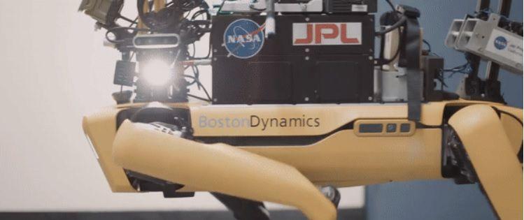 Au-Spot está basado en el famoso robot cuadrúpedo Spot de Boston Dynamics