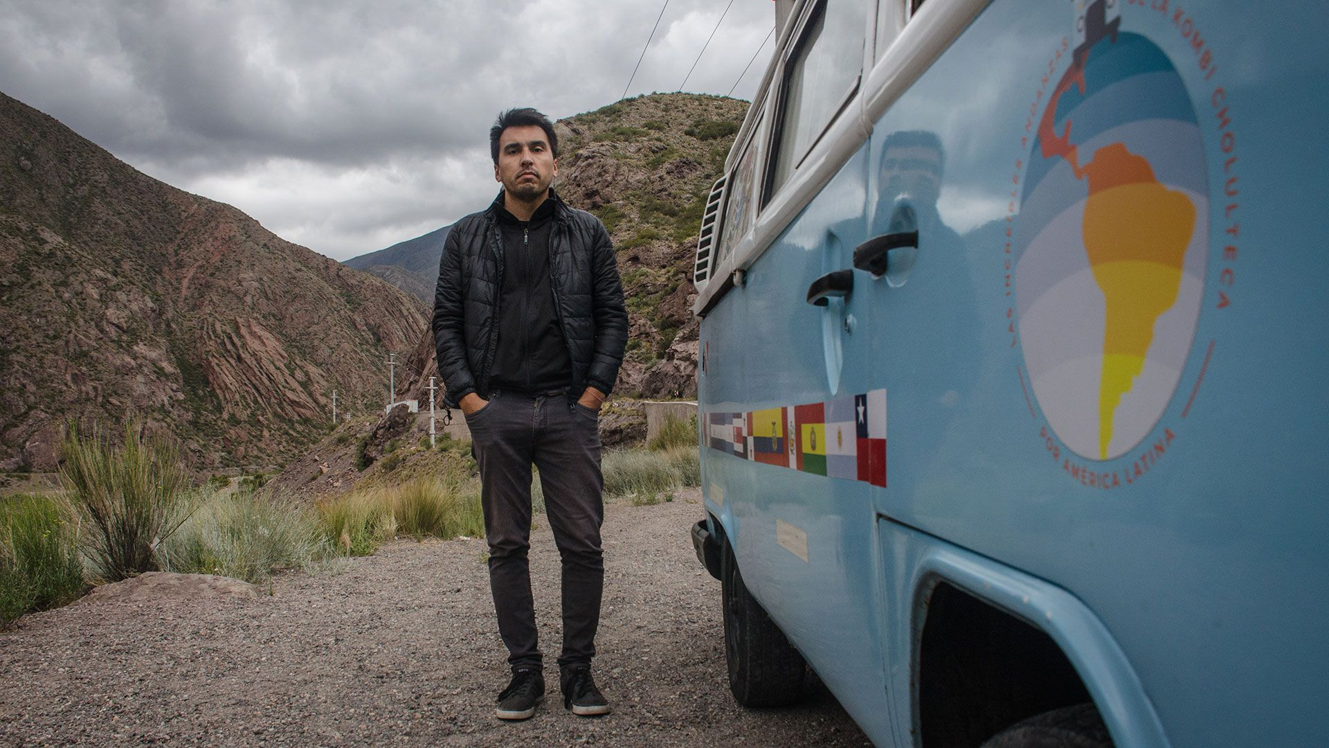 Bruno Iriarte recorrió 30 mil kilómetros en su combi